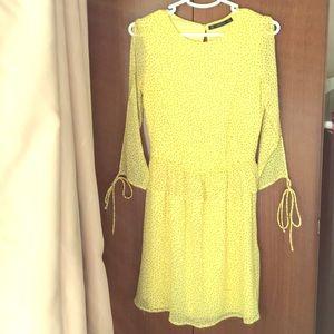 Zara yellow summer dress
